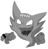 Haunter - Lanterna Negro by Milo619
