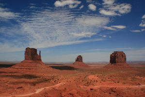Amazing scenery in Monument Valley by Dr-J-Zoidberg