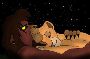 Kovu and Kiaras sleep by K-o-v-u