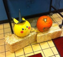 Pikachu Halloween Pumpkin by Amp-and-Breeze
