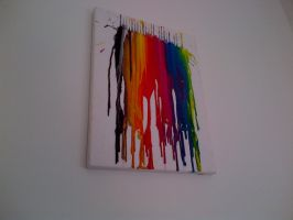 Crayon painting by ChildOfPhandom