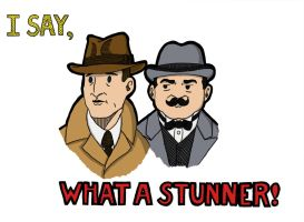 Poirot and Hastings by Filibusteria