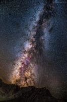 Milky Way above Col Agnel by Captain-Marmote