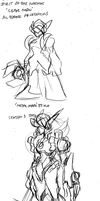 SKETCHED: Gearmon Concept V02 by MostlyFunStuff