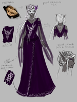 [AA] Emerald Masquerade Phearel's Dress Reference by DustSketches