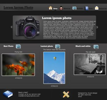 Photographer layout by chuck-design