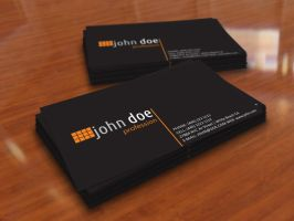 Simple Black Personal Business Card Template by BorceMarkoski