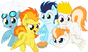 [Collab] Filly Wonderbolts by MacTavish1996
