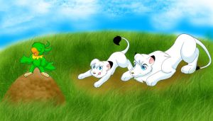 Pouncing Lesson by ThisCrispyKat