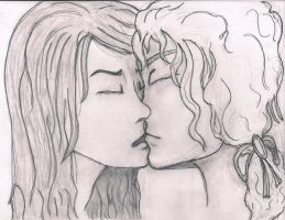 Louis and Lestat Kiss by wm16mpaul