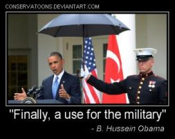 Obama's Use of the Military by Conservatoons