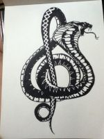 treble cleft snake by v-is-a-beast
