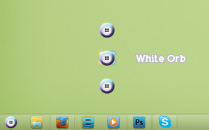 White Start Orb for Windows 7 by 2JDesign