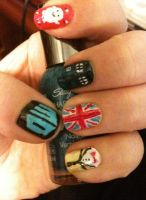 Doctor Who Nail Art Part 1 by LostFlame