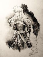 Inuyasha Full Demon 2013 by KitDesertOfFate27