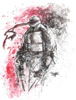 Commish 64 TMNT Noir by RobDuenas