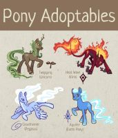 Elemental Pony Adoptables (2 available!) by BriMercedes