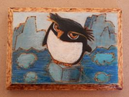 Penguin Woodburning by XDtheBEASTXD