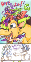 Birfday Dragons- by carnival