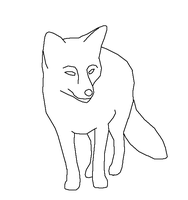 Red Fox - lineart by Harry-Potter-Addict