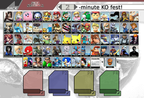 Super Smash Bros Roster by Chain-Of-Ashes