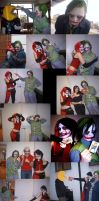Joker and Harley Quinn Cosplay by blackangelofmine