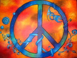 Tie Dye Peace by EmilyLaforce