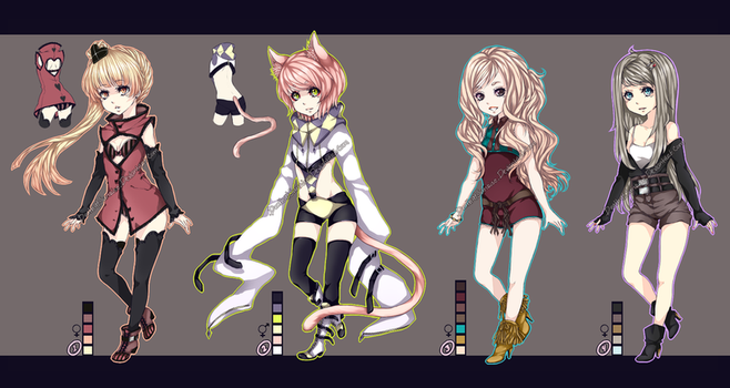 Adoptables Set II [Closed] by DeathatSunrise