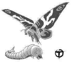 Mothra by pyrasterran