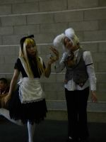 Alice and the white rabbit by kairi-costumes