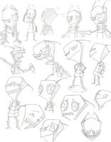 The Many Faces of Zim by CommittedTalent