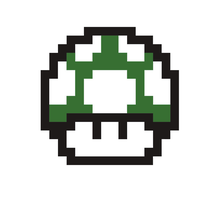 8-bit Mushroom Sticker by OathMagistrate