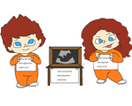 Ray Family Birth Announcement- Partners in Crime by Futuramanerd