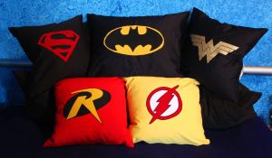 DC Hero Pillows by Laverna