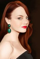 Emma Stone Portrait by HannahWhoDraws
