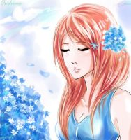 Orihime_Blue by AmaiYuki