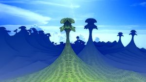 Alien trees by bunnywithrose