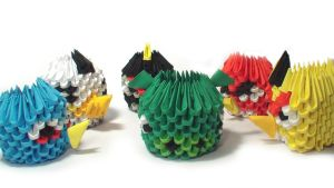 3D origami mini angry birds by Girnelis