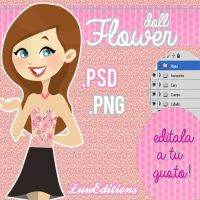 Flower Doll .PSD .PNG by LuuEditionss
