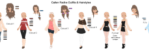.:Callen Outfits Ref Sheet:. by alexpc901