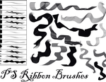 PS Ribbon Brushes by Dark-Zeblock