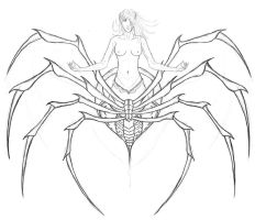 Arachne Sketch by spawntempest