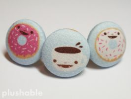 Happy donuts N coffee cup ring by voodoogrl