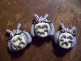 Totoro Polymer Clay Pendant by SommerBommer