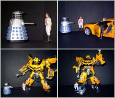 Dalek vs Bumblebee by CyberDrone