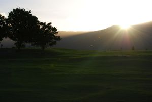 le morning golf course by troldemort