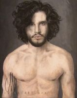 kit harington as jon snow - game of thrones by cymue