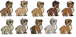 Baby cub adoptables #7 by GiuuM