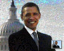 Obama photo mosaic by drsparc