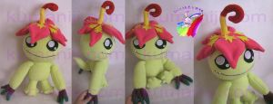 Palmon digimon plush by chocoloverx3